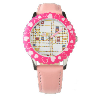 Custom Bezel with Pink Numbers Watch