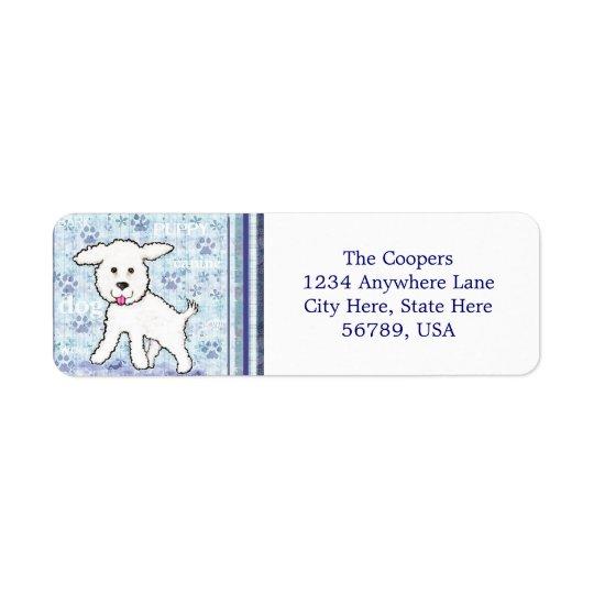 Custom  Bichon Frise Dog Return Address Labels
