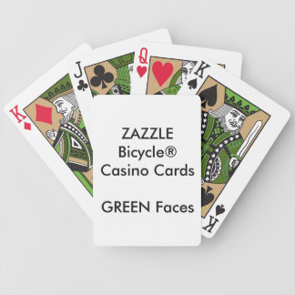 Custom Bicycle® Casino Playing Cards GREEN FACES