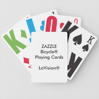 Custom Bicycle® LoVision® Playing Cards