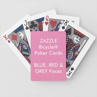 Custom Bicycle® Poker Playing Cards BLUE RED GRAY