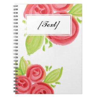 Custom Big Red Roses Notebooks