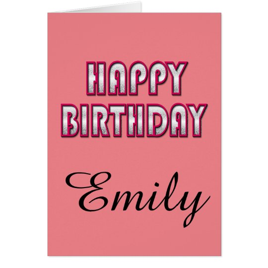 Custom Birthday card With Name Template