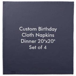 "Custom Birthday Cloth Napkins Dinner 20""x20"" (4)"