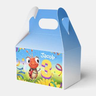 Custom Birthday Party box boy 3 yrs Lil' Ladybug