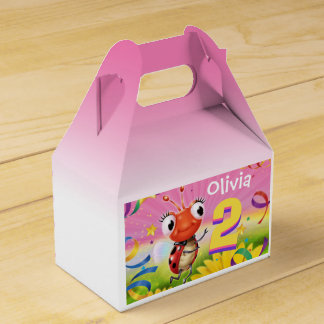 Custom Birthday Party box girl 2 yrs Lil' Ladybug