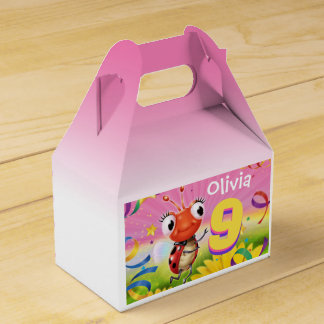 Custom Birthday Party box girl 9 yrs Lil' Ladybug