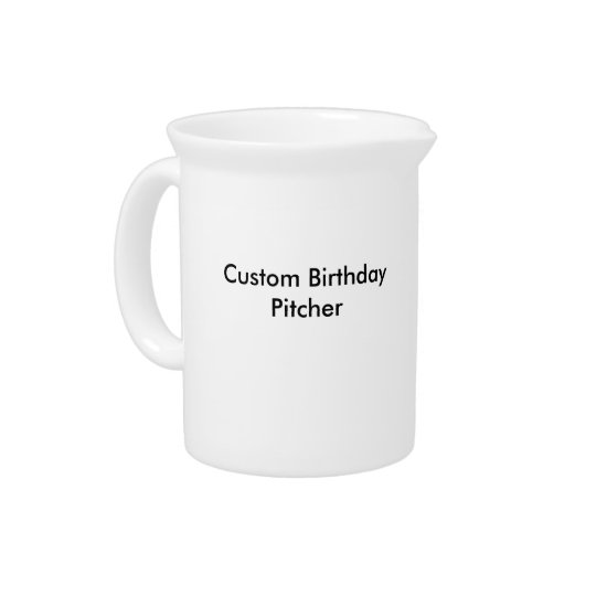 Custom Birthday Pitcher