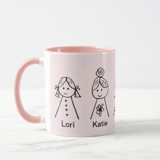 Custom Black 11 oz Ringer Sisters 778 Mug ZAZZ_IT