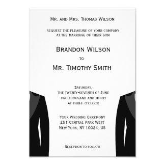 Custom Black And White Gay Wedding Invites