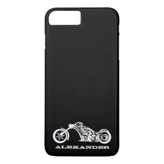 Custom Black and White Tribal Motorcycle iPhone 7 Plus Case