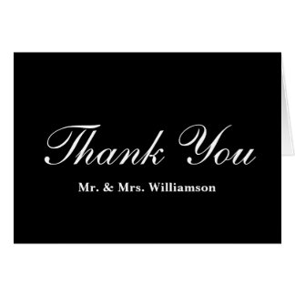 Custom Black and White Wedding Thank You Notes