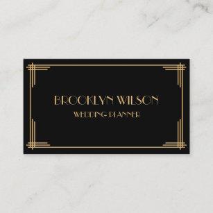 Art deco wedding business cards business card printing zazzle ca custom black art deco business cards colourmoves