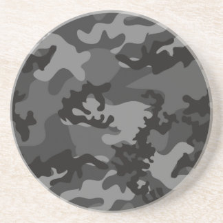 Custom Black Camo Sandstone Coaster