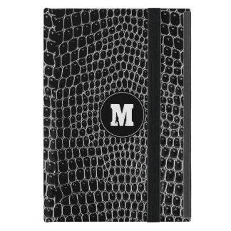 Custom Black Croc Monogram Crocodile Skin ipad min Cases For iPad Mini