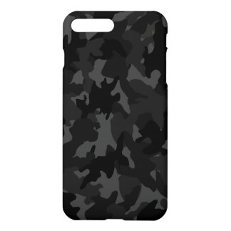 Custom Black Gray Camouflage Camo Pattern Matte iPhone 8 Plus/7 Plus Case