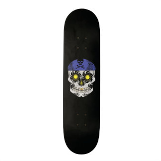 Custom Black Motorcycle Candy Skull Deck Custom Skate Board