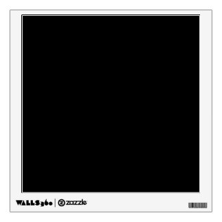 Custom Black Photo Wall Decor Peel n Stick Decal