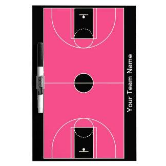 Custom black pink basketball dry erase board