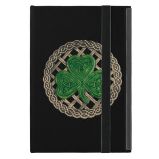 Custom Black Shamrock Celtic Knots iPad Mini Case