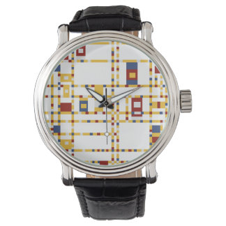 Custom Black Vintage Leather Watch