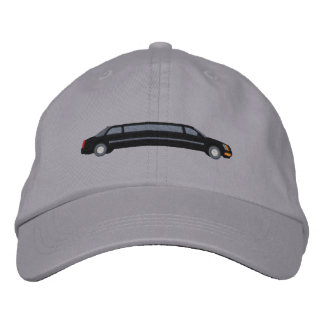 Custom Black VIP Limousine Embroidery Embroidered Hat