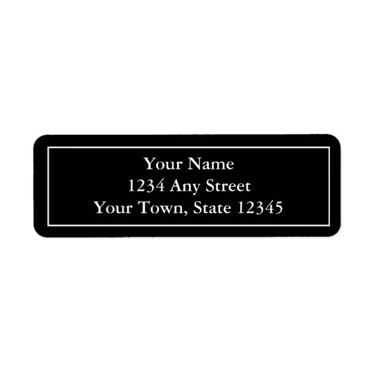 Custom Black & White Pre-Addressed Mailing Labels