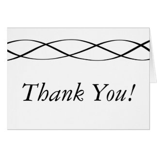 Custom Black & White Thank You Card Stationery