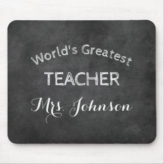 Custom blackboard chalkboard school teacher gift mouse pad