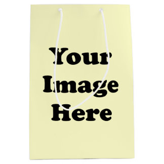 Custom Blank Template Matte Gift Bag Medium