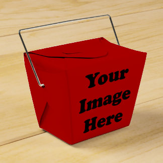 Custom Blank Template Red Takeout Favour Box