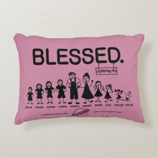 Custom Blessed family pillow