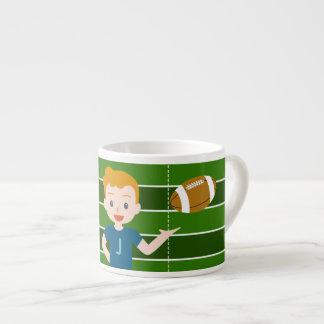 Custom Blond Boy Football Kids Mug