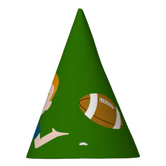 Custom Blond Boy Football Party Hats
