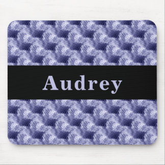 Custom Blue Abstract Texture Pattern Mousepad