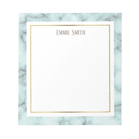 Custom Blue and Grey Marble Notepad