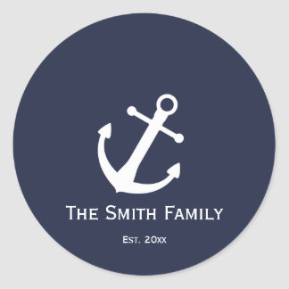 Custom Blue and White Nautical Stickers
