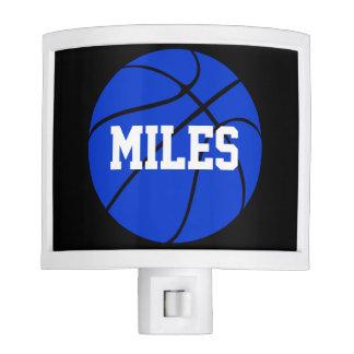 Custom Blue Basketball Nightlight Night Lite