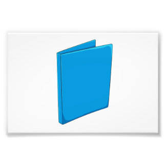 Custom Blue Binder Folder Greeting Playing Cards Photo Print