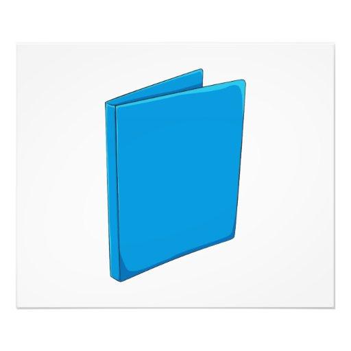 Custom Blue Binder Folder Invitation Postage Label Photographic Print
