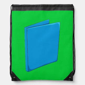 Custom Blue Binder Folder Mugs Hats Buttons Pins Drawstring Bags