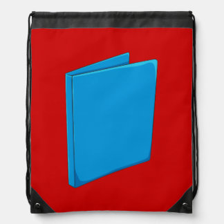 Custom Blue Binder Folder Mugs Hats Buttons Pins Drawstring Backpack