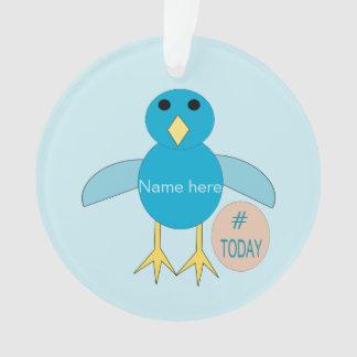Custom Blue Birthday Boy Chick Acrylic Ornament