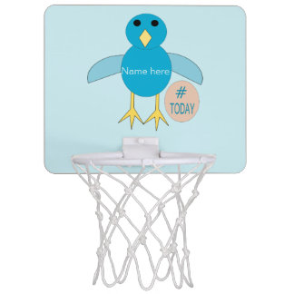 Custom Blue Birthday Boy Chick Basketball Hoop