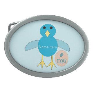 Custom Blue Birthday Boy Chick Belt Buckle