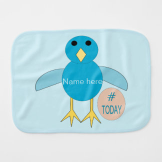 Custom Blue Birthday Boy Chick Burp Cloth
