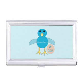 Custom Blue Birthday Boy Chick Business Card Holder
