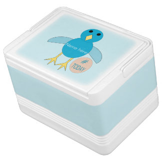 Custom Blue Birthday Boy Chick Can Cooler