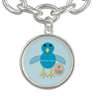 Custom Blue Birthday Boy Chick Charm Bracelet