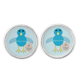 Custom Blue Birthday Boy Chick Cufflinks